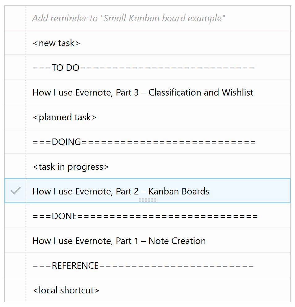 How I use Evernote, Part 2 – Kanban Boards